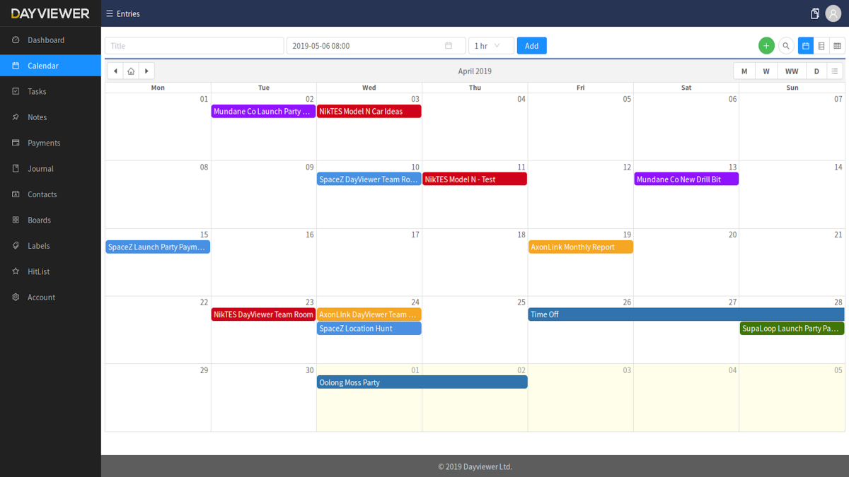 graphic regarding Day Organizer called DayViewer On the net Calendar, Planner Organizer