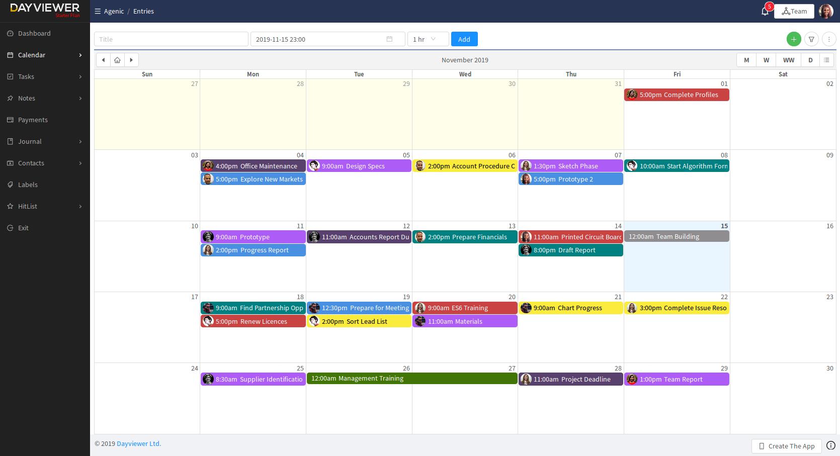 online team calendar